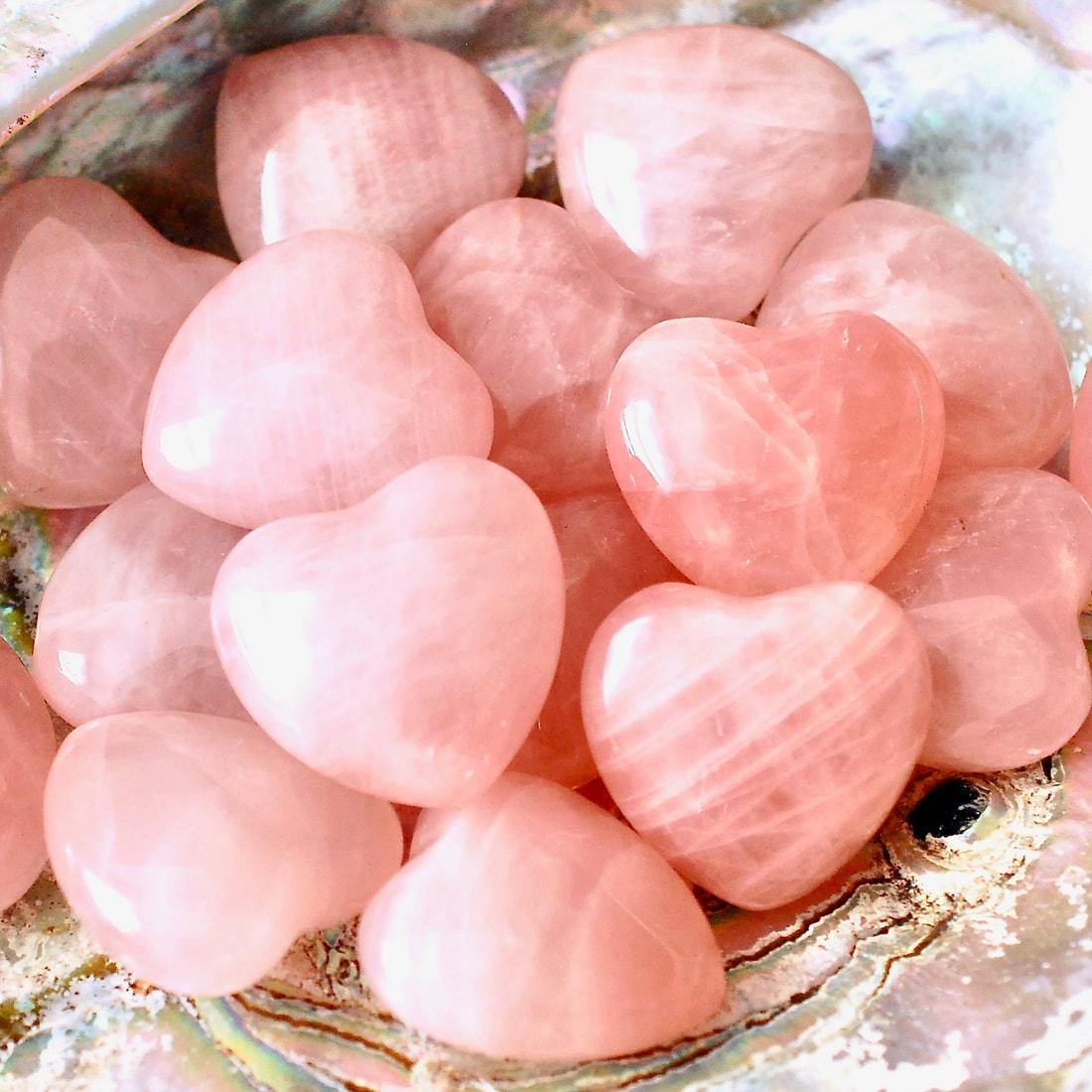 Rose Quartz Heart Crystals